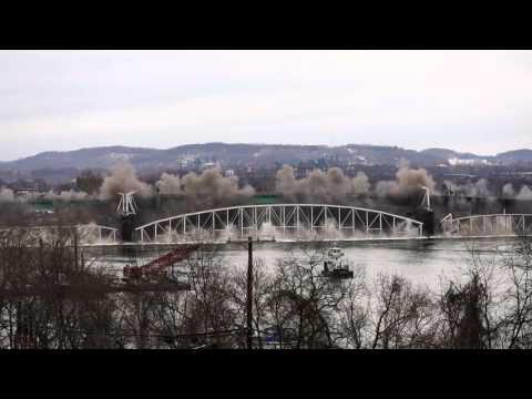 Hulton Bridge Implosion in Pittsburgh HD