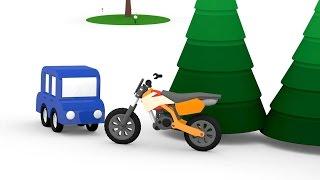 Lehrreicher Zeichentrickfilm - Die 4 kleinen Autos - Wir bauen ein Motorrad