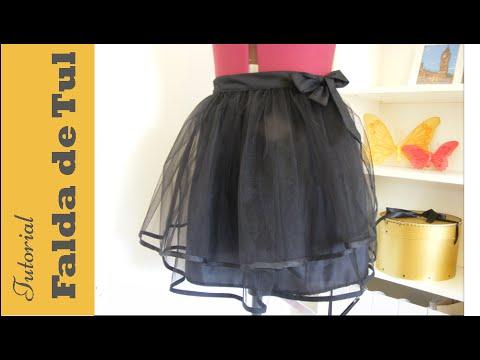 dcf7f2c33 Falda de tul: Tutorial paso a paso para hacerla. DIY COSTURA