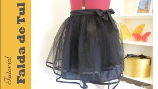Cómo hacer una falda de tul o tutu sin cierres