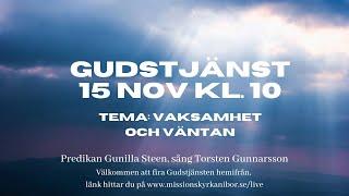 20201115 Gudstjänst i Missionskyrkan i Bor kl. 10