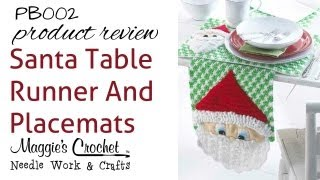 Santa Table Runner And Placemats Product Review Pb002