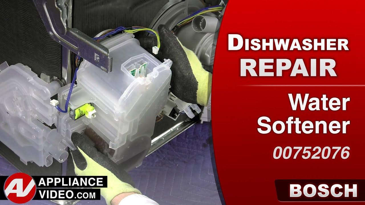 How To Repair A Water Softener Bosch Dishwasher Water Softener Repair Youtube
