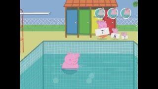 Свинка Пеппа-Папа Свин в бассейне-Обзор игры