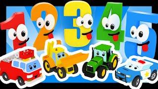 Les chiffres avec les voitures et les camions - Titounis