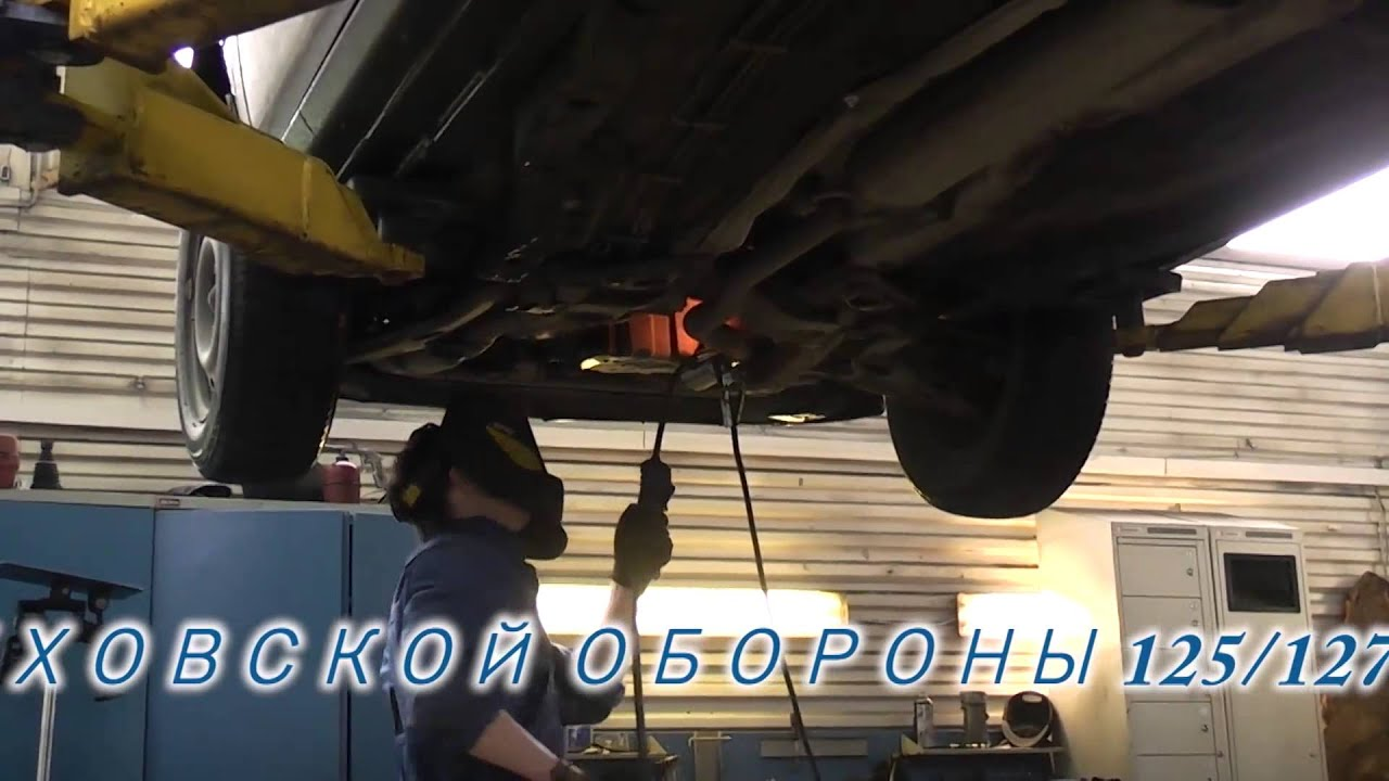 Замена гофры на Opel Zafira