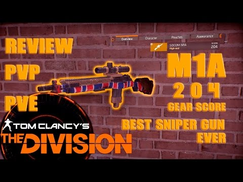 Best Sniper Rifle M1A1 review 204GS | MILLION DAMAGE | The Division  | EPIC DAMAGE | 1080p