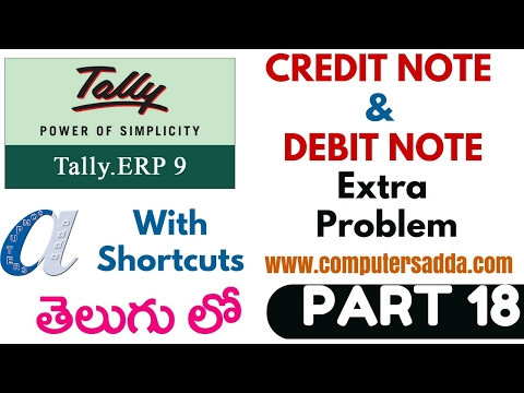 Tally Tutorials in Telugu- 18 ||Credit Note & Debit Note || www.computersadda.com||