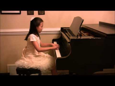 Mozart K. 545 Sonata in C Major (complete) - Marissa Liu (Age 8)