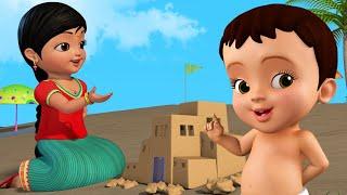 மண்ணுல தான் வீடு கட்டி விளையாடலாம் | Tamil Rhymes for Children | Infobells