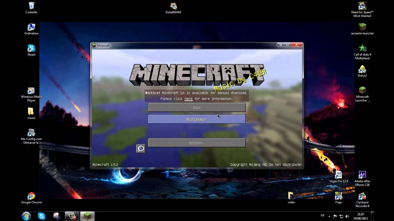 minecraft: comment mettre un pack de texture tuto ( 1.5.2 cracké ) - YouTube