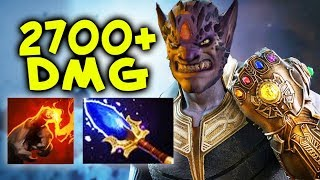 2700 DMG Finger of Death + Aghanim — kill from FULL HP by Wagamama