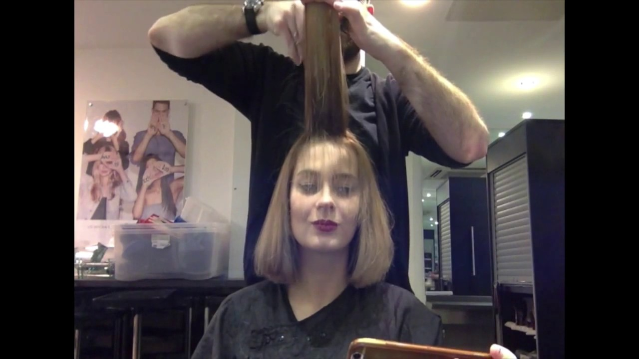 I Filmed My New Haircut Alexa Chung Style Bob Youtube