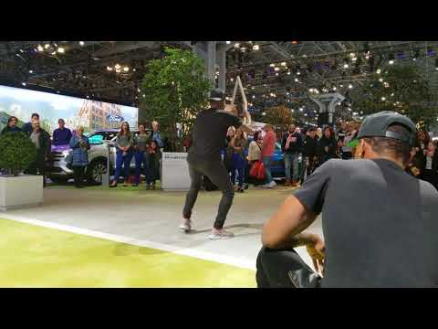 4K Ford Great Dance Tricks Street Performance SPED UP 2x at NY International Auto Show 2018