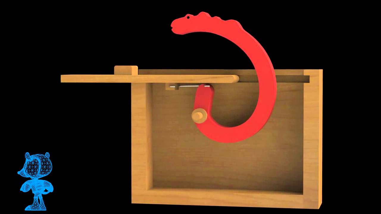 Pop-Up Dragon Wooden Toy 3D Model - YouTube