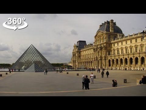 Walking around The Louvre Palace, VR 360 video