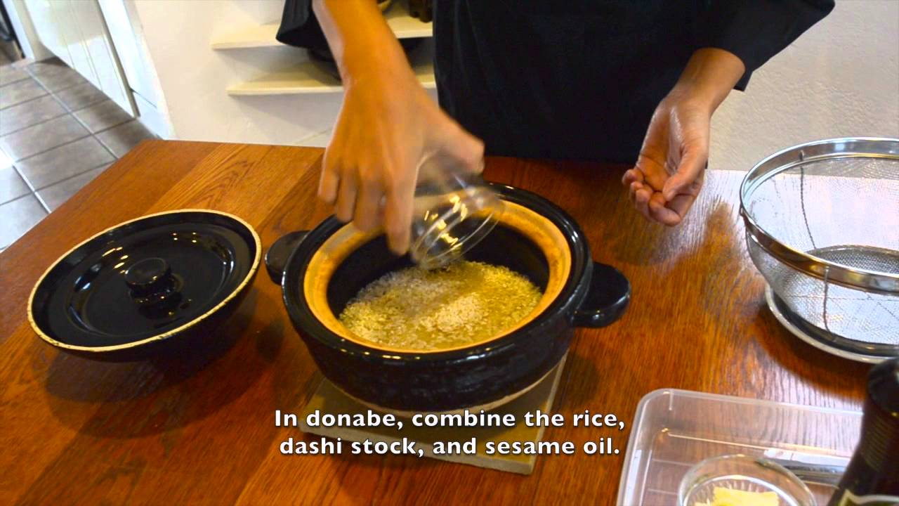 Chicken ginger rice japanese donabe cooking youtube forumfinder Gallery