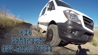 Testing the Sprinter Van's 4x4 capabilities off-road for the first time(Testing the off-road capabilities of my 2016 Mercedes 4x4 Sprinter Van for the first-time in the Boise foothills. I was really impressed with my first-test run, where ..., 2016-09-26T04:15:13.000Z)
