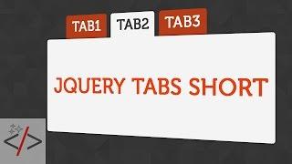 Как сделать вкладки jQuery для сайта - Tabs Short