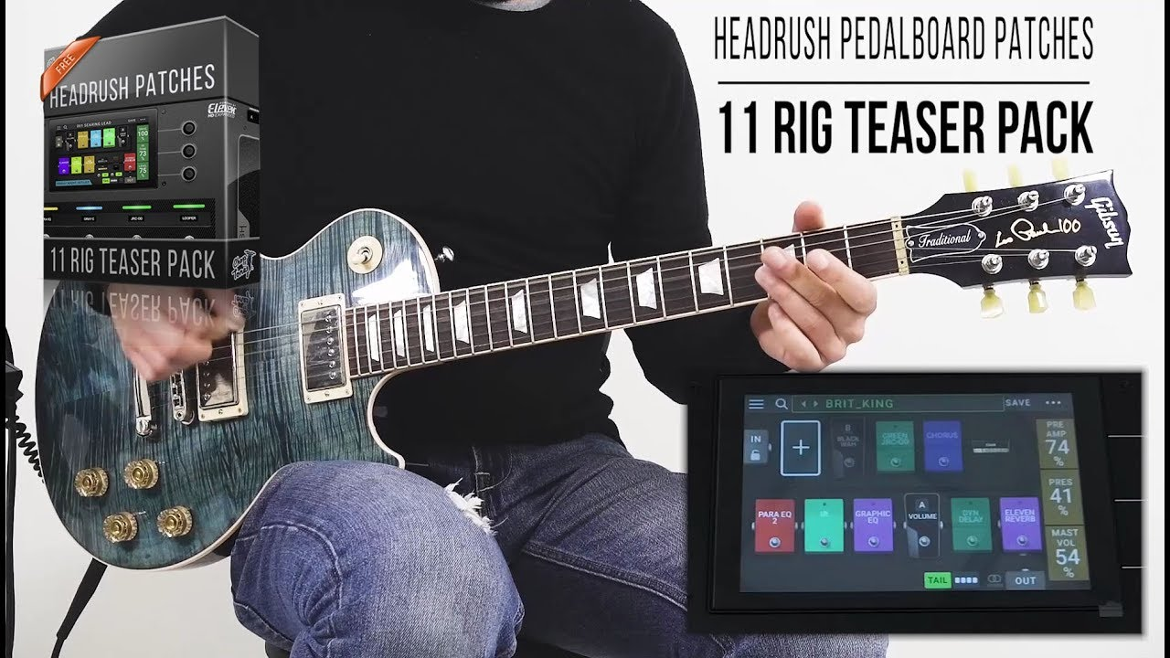 Chop Tones 11 Rig Teaser Pack Gratis con la pedaliera HeadRush