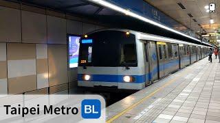 台北捷運︱板南線︱土城站 列車進出站 月台門尚未裝設