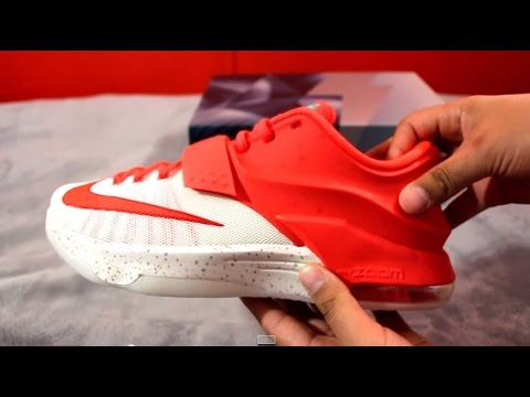 sports shoes 0f59d 64809 Unboxing Nike KD VII XMAS Egg Nog Christmas!