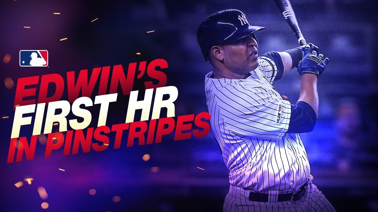 Edwin's first HR for Yankees