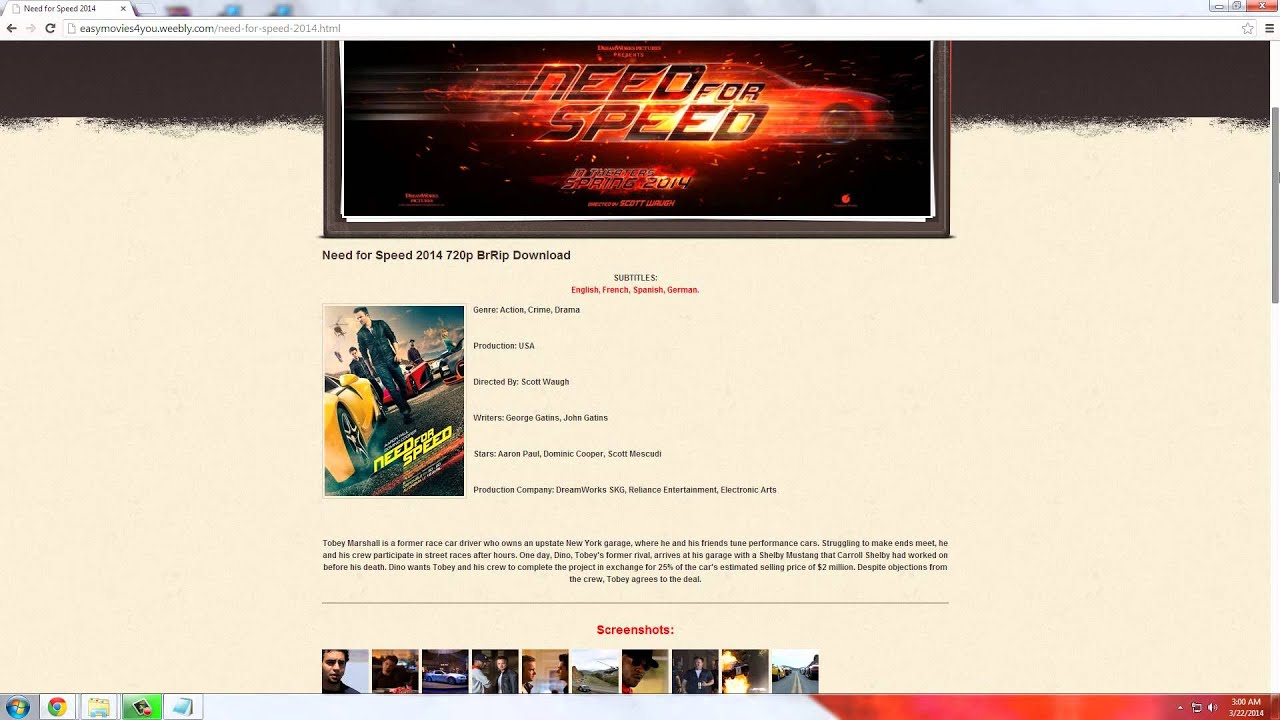 Watch Need For Speed 2014 Full Movie 720p Download Youtube