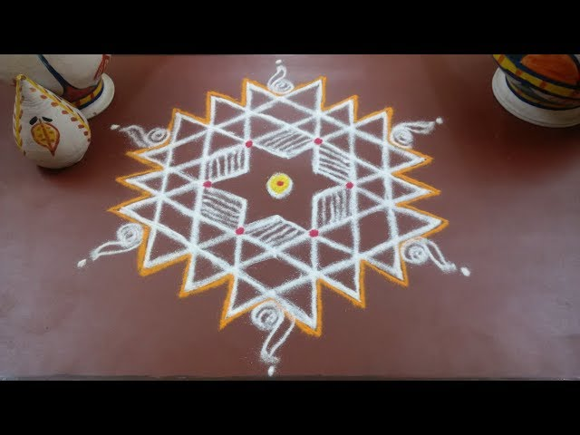 kolam which welcome Lakshmi/ Pooja Muggulu