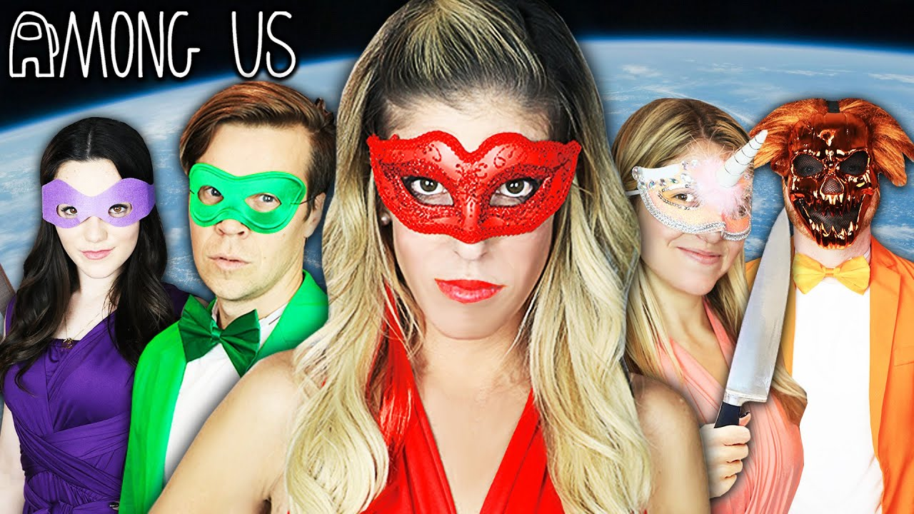 Giant AMONG US in Real Life but at a MASQUERADE BALL! Rebecca Zamolo