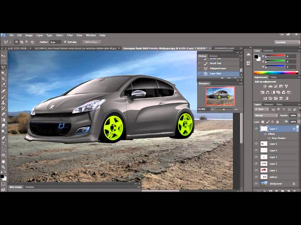 peugeot 208 gti virtual tuning photoshop youtube. Black Bedroom Furniture Sets. Home Design Ideas