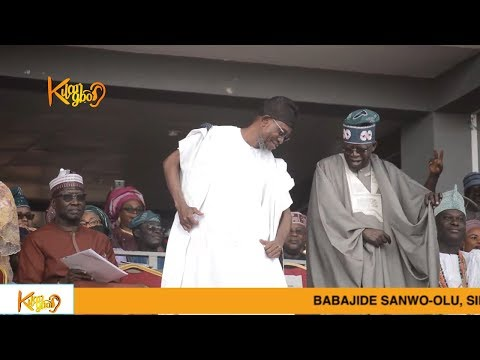 Tinubu Speech at Gov. Gboyega 's Inauguration And  Shows Off Dance Skills With Aregbesola