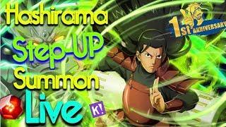 **Hashirama Step UP Summons** Anniversary Live Stream! - Naruto x Boruto Ninja Voltage