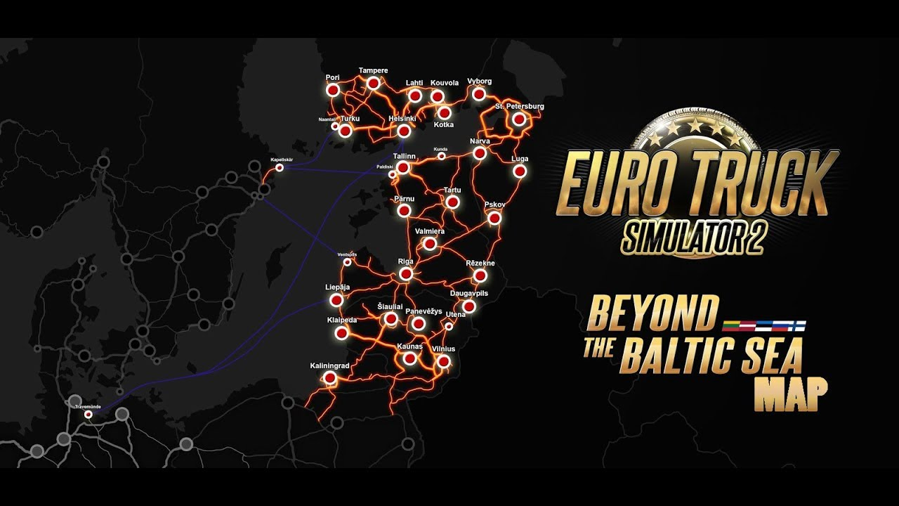 ets2 beyond the baltic sea map youtube. Black Bedroom Furniture Sets. Home Design Ideas