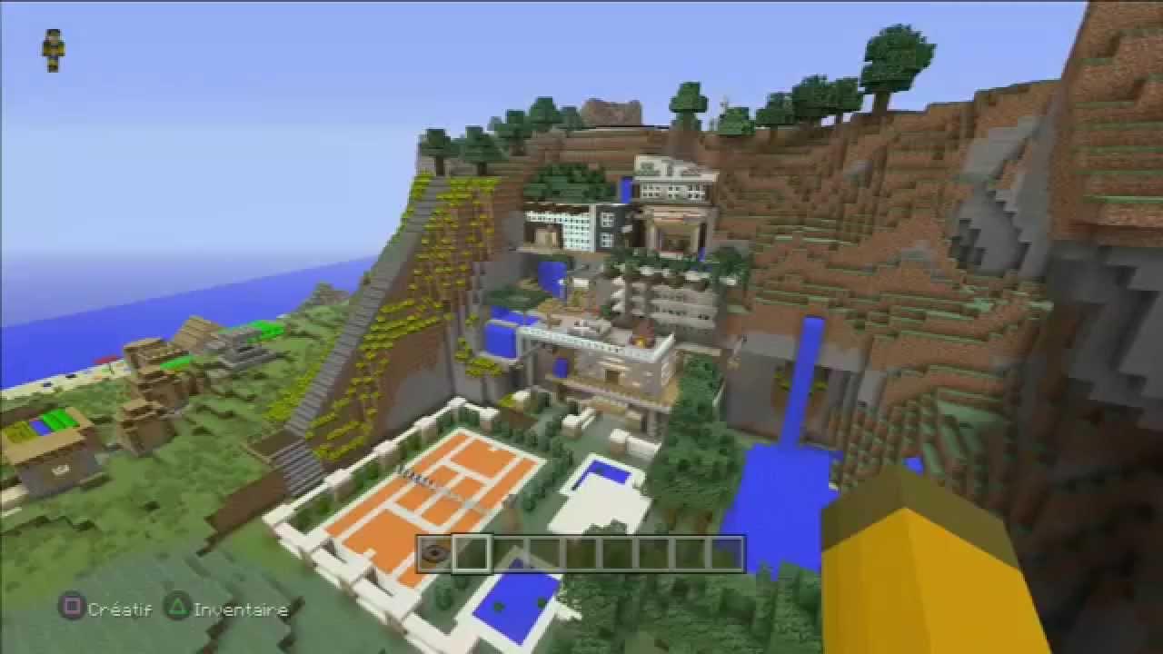 Minecraft - Villa moderne dans la montagne (ps3) - YouTube