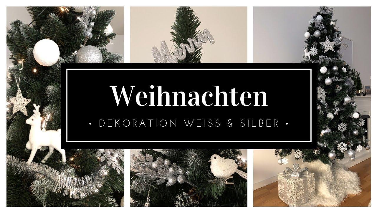 Deko Weiß Silber.Glamour Weihnachtsbaum Dekoration 2018 Silber Und Weiß