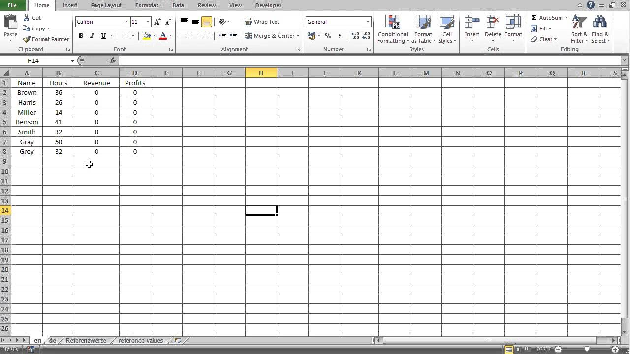 Microsoft Excel Tutorial 3: Absolute Cell References in Separate Worksheet