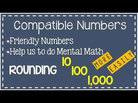 Compatible Numbers  - Elementary Math - 4.4G
