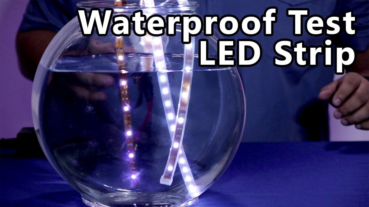 led strip water test ip ratings ip68 ip67 ip40 youtube. Black Bedroom Furniture Sets. Home Design Ideas