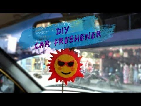 DIY felt aroma car freshener with fav perfume