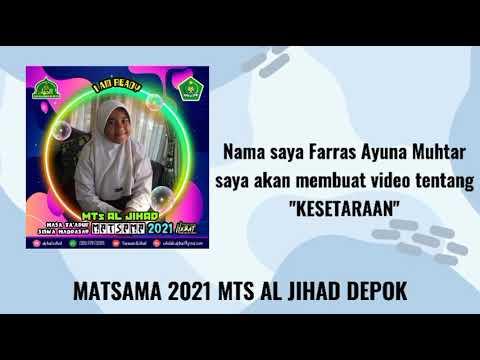 Kreativitas Peserta Matsama MTs Al-Jihad 2021 -