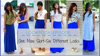 How To Wear - One Maxi Skirt in Six Different Ways | Lookbook Episode || Sneha Sakya
