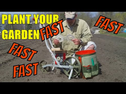 How to plant your vegetable seeds fast with a Garden Seeder YouTube