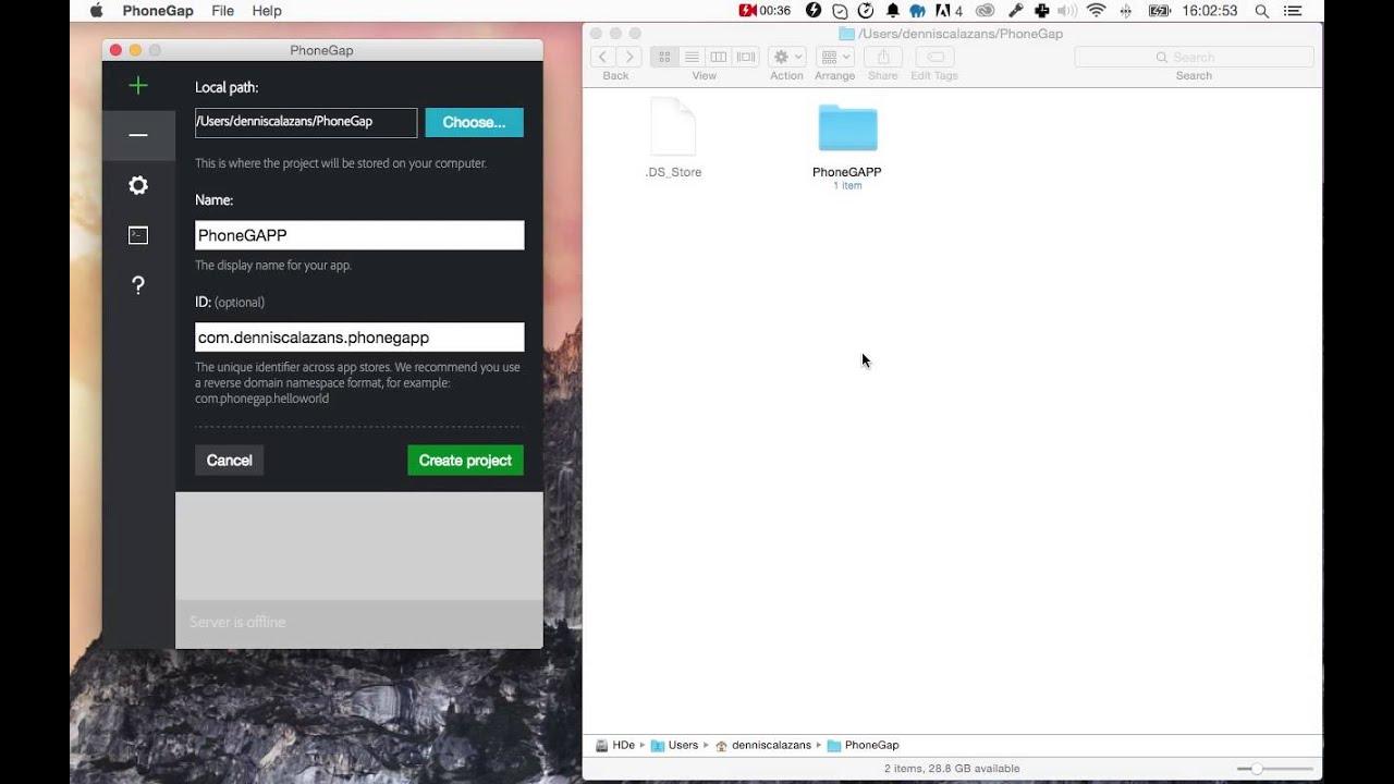 Criando um projeto PhoneGap com o PhoneGap Desktop