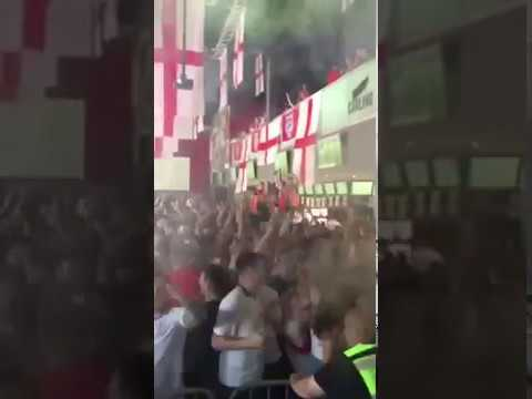 ENGLAND FANS GO CRAZY AS THEY SCORE AGAINST PANAMA!! WORLD CUP 2018