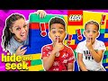 PLAYING HIDE N SEEK IN OUR LEGO HOUSE WITH DJ & KYRIE | DJ's Clubhouse