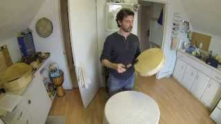 Making a Native Drum Part 4