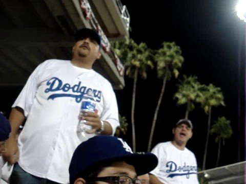 Dodger Fans Fighting With Each Other