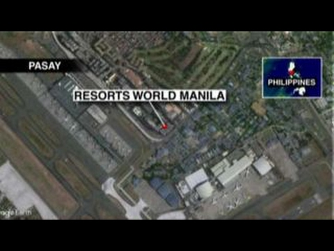 Reports: Men in black hoods stormed Manila resort
