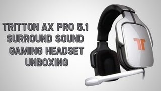 tritton ax pro 5 1 surround sound gaming headset unboxing